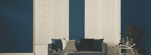 Stylish vertical blinds for a living area
