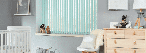 vertical shades for baby's room