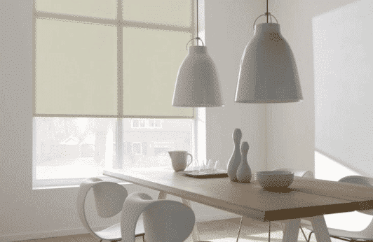 Dining area with sunscreen blind